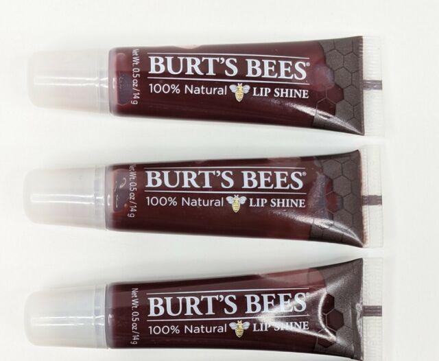 Burt's Bees Lip Balm 100% Natural Lip Shine Lot of 3  Smooch (060) - 0.5 oz ea