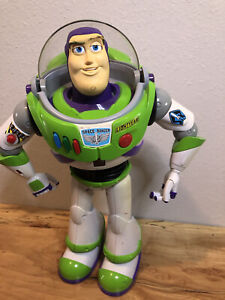 """Buzz Lightyear Ultimate Voice Command 16"""" RC Robot Toy Story"""