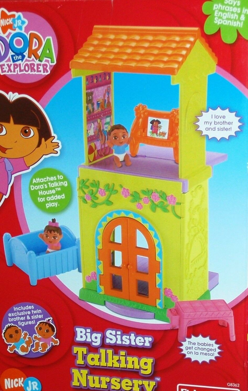 Dora The Explorer Big Sister Talking Nursery New In Box RARE
