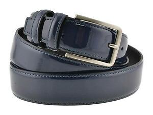 migliori scarpe da ginnastica grandi affari foto ufficiali Cintura pelle uomo vernice blu vitello spazzolato elegante ...