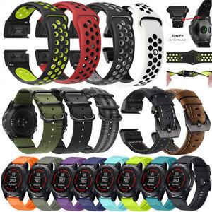 For-Garmin-Fenix-3-5-5X-5S-Nylon-Silicone-Strap-Replacement-Watch-Band-Bracelet
