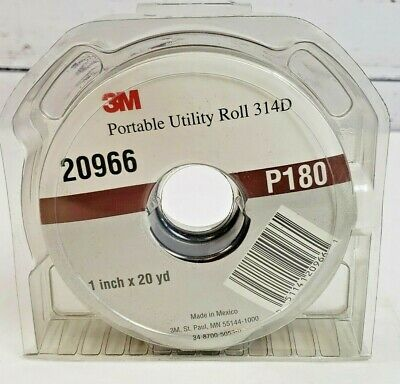 3M Utility Cloth Roll 314D 1-1//2 in x 50 yd P180 J-weight