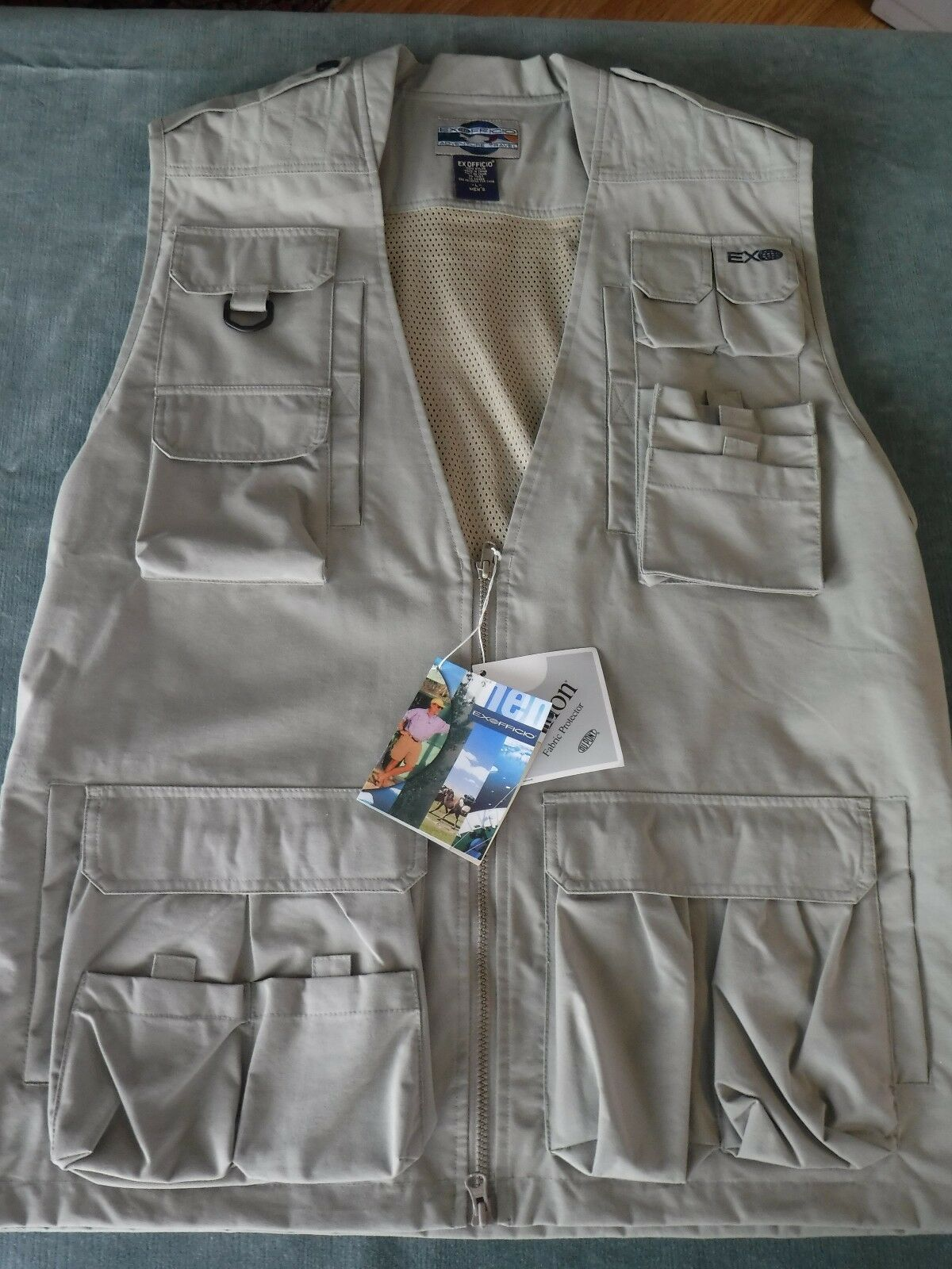 Mens Exofficio Khaki Passport Photo Large New NWT