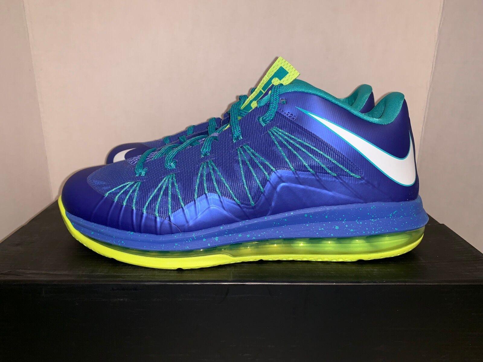 279690c31af Nike Air Max Lebron X Low Sprite Volt Platinum Size 10 2013  579765 ...