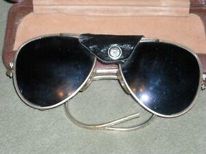 ed1be9cbf Image is loading vintage-glass-aviator-pilot-hunting-sunglasses-glacier-ski-
