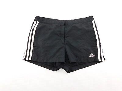 Adidas Da Donna Nero Bianco 3 Righe Foderato Rete Scatto Vita Athletic