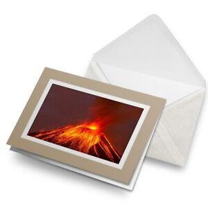 Greetings-Card-Biege-Volcano-Lava-Mountain-Geology-8097