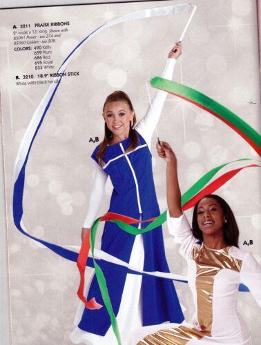 Praise Ribbon 13 ft long You choose color satin acetate Liturgical Dance Church