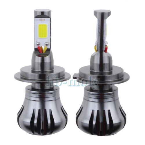 2x LED COB H7 Flash Strobe Blinking Car Fog Light DRL Dual Color Waterproof 12V