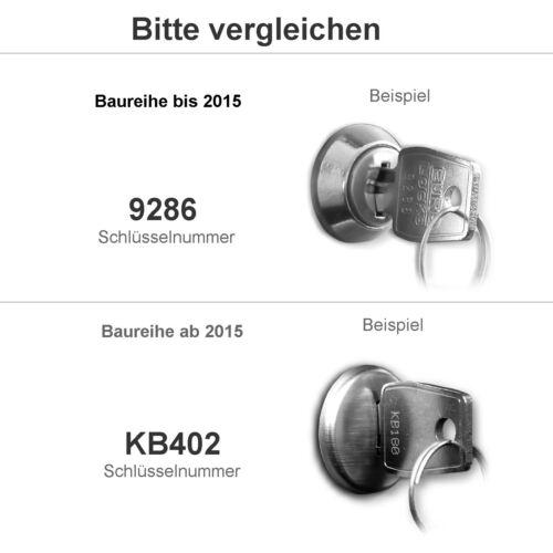 """Ersatzschloss mit vier Schlüssel AL Briefkastensysteme /""""Baureihe ab 2015/"""""""