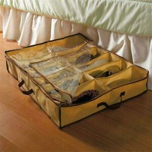 12-Pairs-Shoes-Storage-Organizer-Holder-Container-Under-Closet-Bed-BoxBags-N3E0