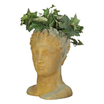 Hermes Head Bust Garden Planter by Orlandi Statuary Made of Fiberstone-FS7383