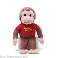 Curious George 8 Beanbag Stuffed Plush Monkey Toy By Gund red Shirt