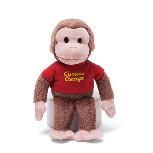 """8/"""" Curious George in Red Shirt Gund"""