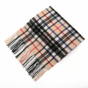 Auzland-UGG-Pure-Wool-Scarf-Beige-Check