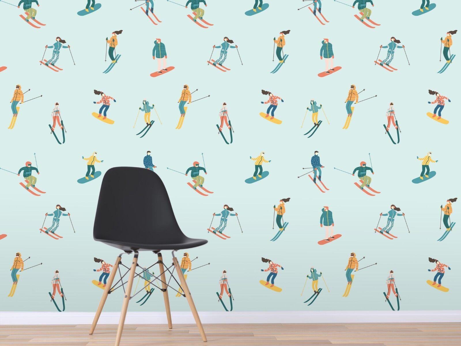 3D Green Ski 938 Wall Paper Murals Wall Print Wall Wallpaper Mural AU Sidney