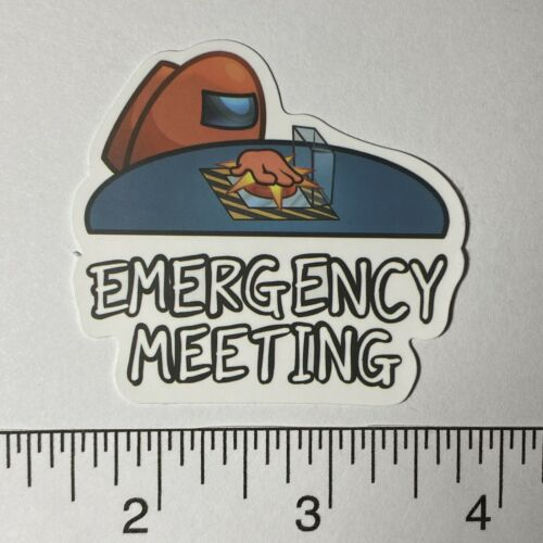 Emergency Meeting Among Us Sticker Decal For Phone Car Guitar Skateboard