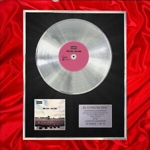 OASIS-TIME-FLIES-1994-2009-CD-PLATINUM-DISC-LP-VINYL-RECORD-AWARD-DISPLAY