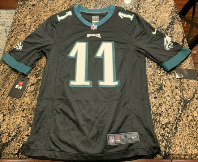 buy popular 513fd a01d5 NIKE CARSON WENTZ NFL PHILADELPHIA EAGLES #11 MENS BLACK JERSEY ON FIELD