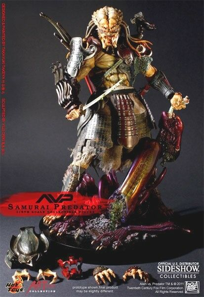 Hot Toys SAMURAI Alien vs Prougeator AVP 14  1 6 Scale Sideshow NEW FACTORY SEALED