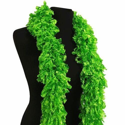 1920/'s Flapper Gatsby Style Burlesque Luxurious Green Featherless Boa