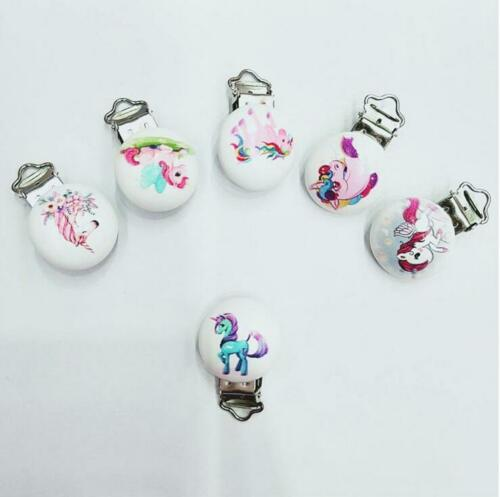5X unicorn//Flamingo Baby Pacifier Clip Soother Clasps Holders Teether Accessorie