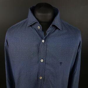 JOOP-Mens-Shirt-2XL-Long-Sleeve-Blue-Regular-Fit-Cotton