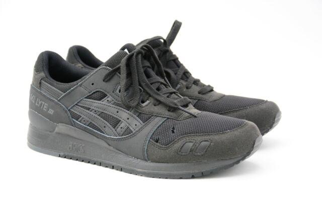 ASICS Men's Tiger Gel Lyte III Shoe Black Mono Size US 11 M EU 45 Used