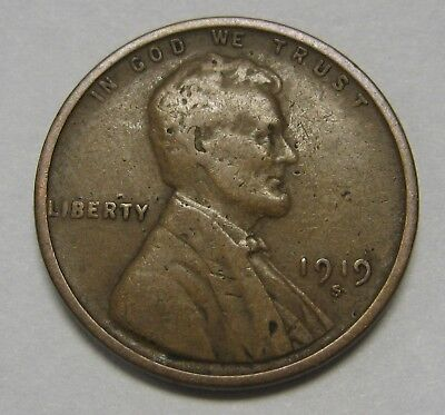 1919-D Lincoln Wheat Cent in Average Circulated Condition      DUTCH AUCTION