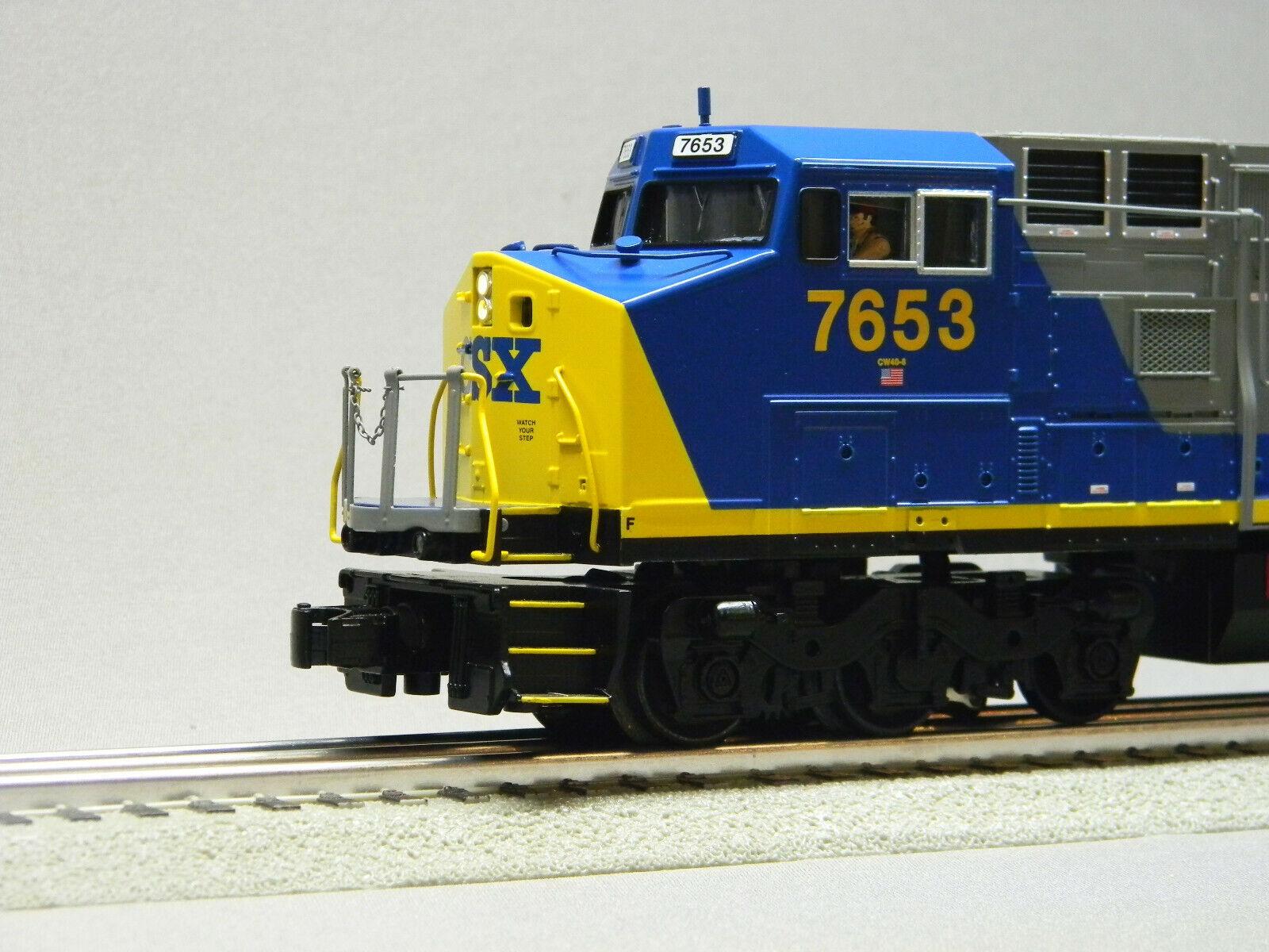 MTH RAIL KING CSX DASH 8 DIESEL ENGINE 7653 7653 7653 PredO 3 O GAUGE 30-20558-1 train NEW e02757