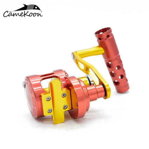 CAMEKOON All Metal Jigging Fishing Reel 62LB Carbon Drag Saltwater Trolling Reel