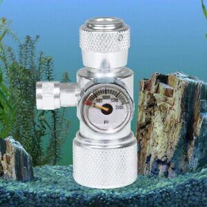 Aquarium CO2 Einfacher Manometerdruck CO2 Regler Manometer Silber