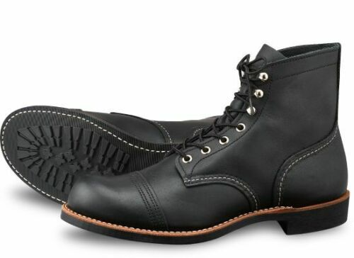 Red Wing Boot Iron Ranger 8084 Black Harness Leather First Quality