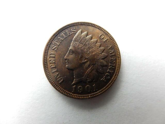 1901 INDIAN HEAD PENNY CENT, UNC DETAILS    #Q42