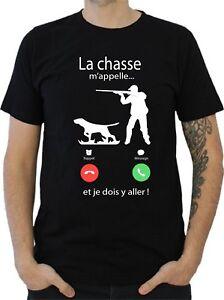 T-SHIRT-HOMME-LA-CHASSE-M-039-APPELLE
