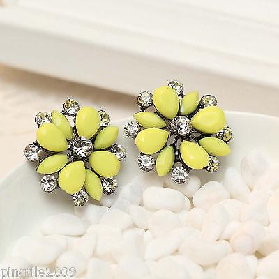 """Hot Handmade New Design Multi Color Bling Rainbow Stud Earring 1"""" E289"""