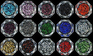 Loose-Rhinestones-lot-of-Hot-Fix-Iron-on-2mm-SS6-22-Colours-to-choose-from