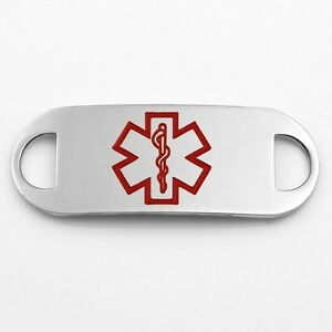 1 5/8 Inch Stainless Steel Large Medical Symbol ID Tag - CR1944