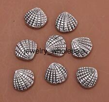 10pcs Tibetan Silver Shell Bead Loose Spacer Beads 12X13mm D3066