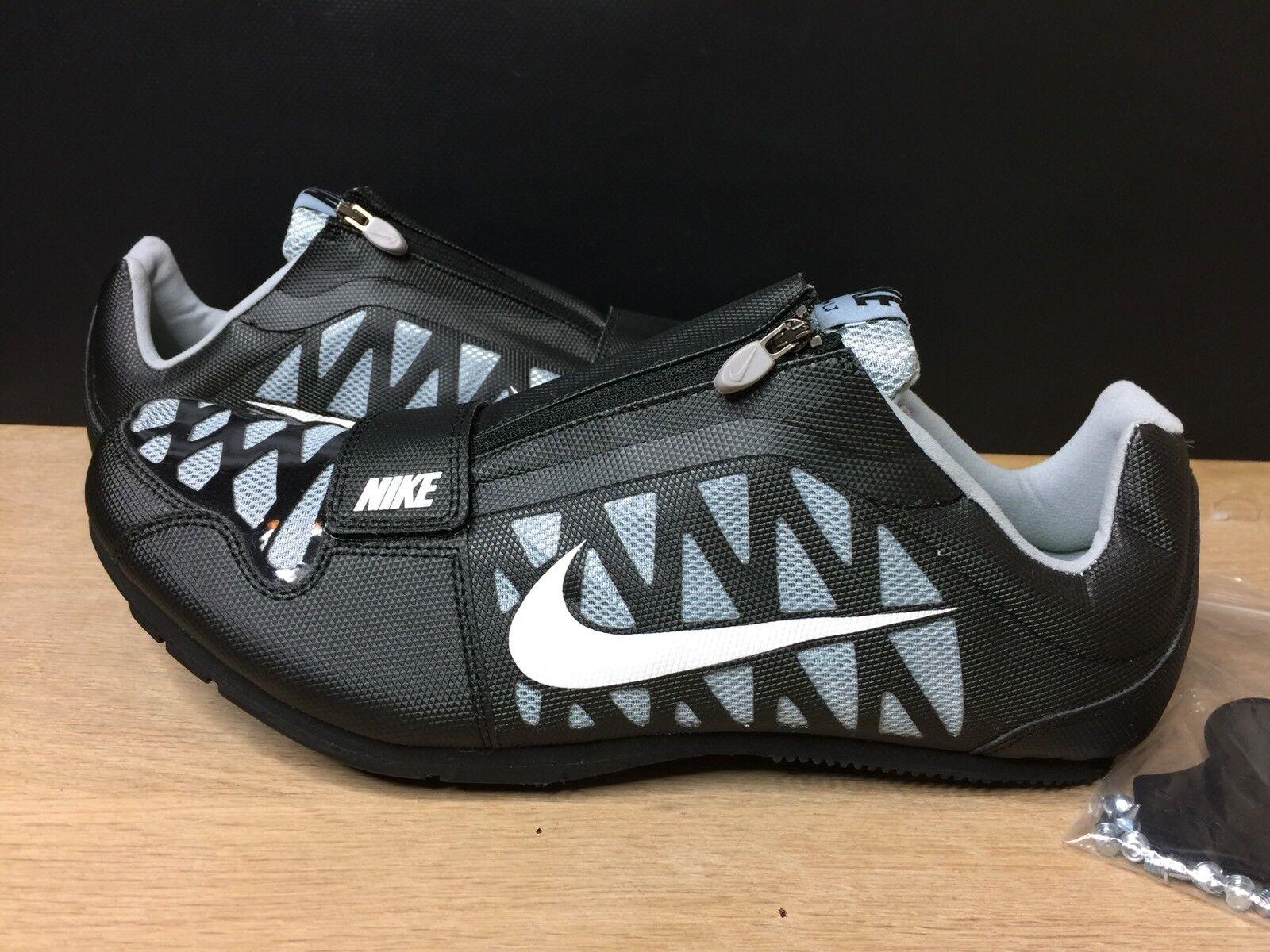 Nike zoom lj 4 iv di salto in lungo, nero, grigio 415339-002 Uomo grandi spuntoni