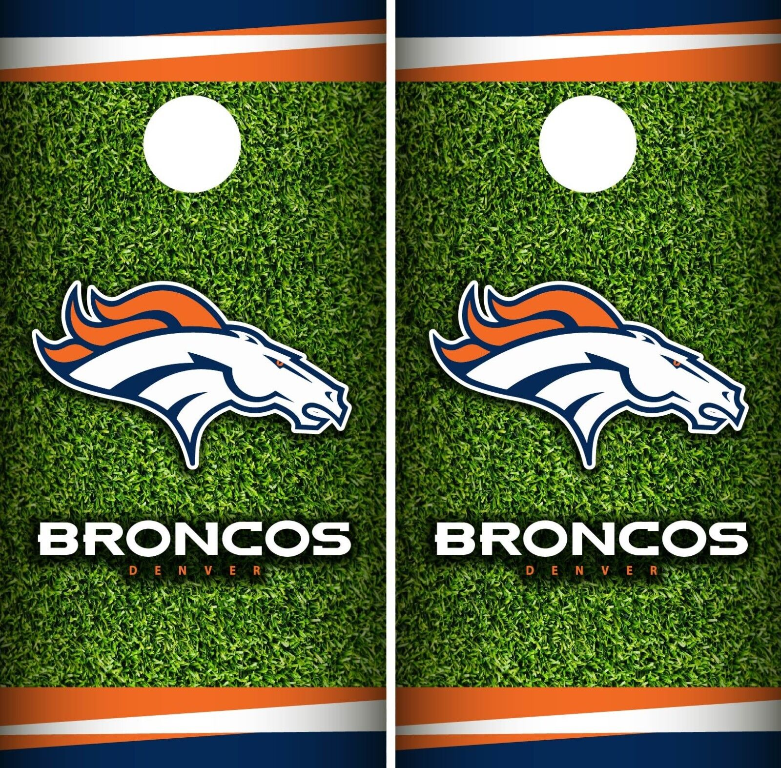 Denver Broncos Field Cornhole Wrap NFL Game Skin Board Set Vinyl Decal CO62