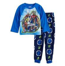 8 or 10 Boy/'s Super Hero Avengers Age of Ultron Fleece Pajama Set 6 New $36