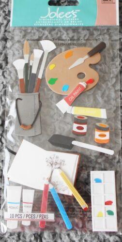 ART SUPPLIES Art Paint Palette Pencils Charcoal Pigment Brush Jolee/'s Stickers
