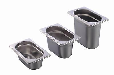 GN Behälter Gastronorm 1/9 Edelstahl 65 mm - 150 mm Tiefe