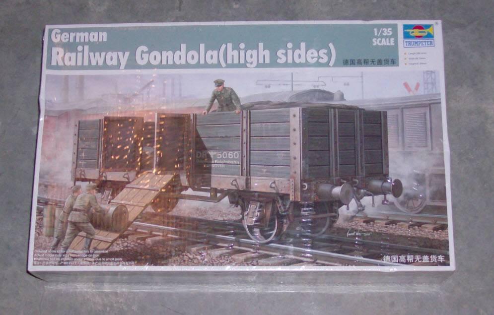 Trumpeter 1 35 Railway Gondola (High Sides)  New