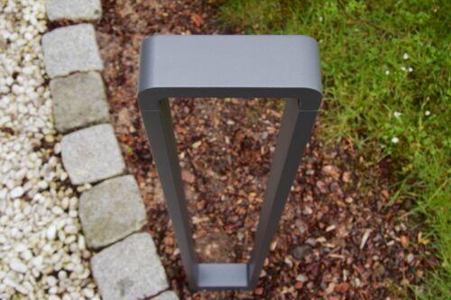LED Außenstehleuchte Design Außenlampe Wegeleuchte Gartenleuchte Pollerlampe NEU