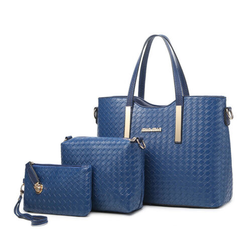 2018 Women Handbag PU Leather Shoulder Messenger Bag Tote Purse Clutch Bag Set