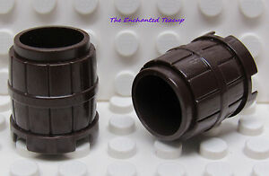 LEGO Lot of 4 Brown Small Western Pirate Barrel Containers