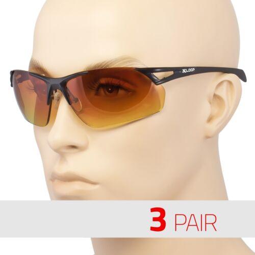 3 PAIR HD Driving Metal Aviator SunGlasses Blue Blocker High Definition Black MT