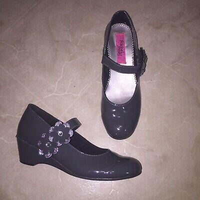 Rachel Shoes Gray Flower Heel Dress